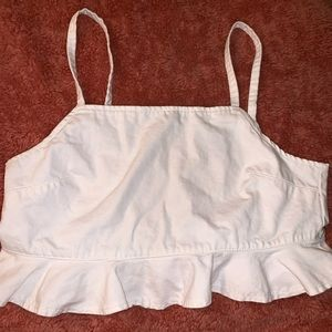Forever 21 white crop top // size large